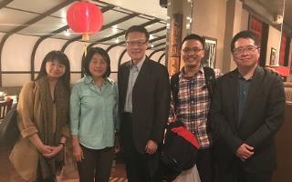 林逸秘書、杜克大學臺灣同學會會長吳泰霖、遲耀宗組長、李坤珊教授、許淑婷老師